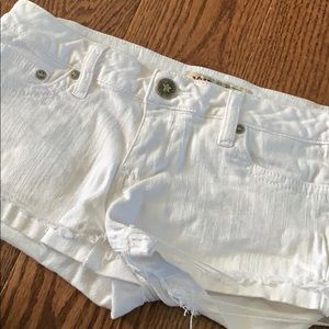 White YMI shorts